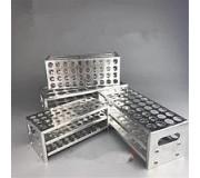 Штатив для пробирок алюминиевый Ш-60,d=17 Россия (60 гнезд)