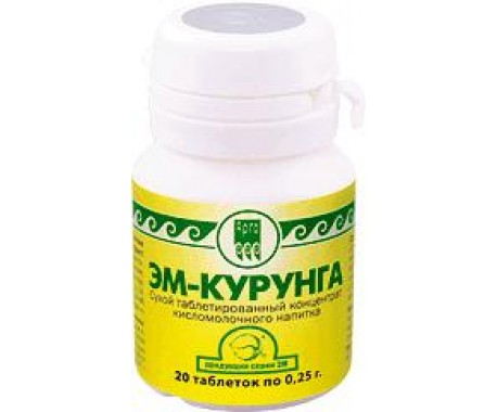 ЭМ-курунга кисломолочный продукт  таблетки  30 шт
