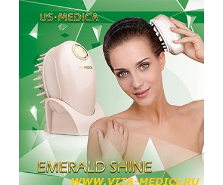 Прибор для массажа головы US MEDIСA Emerald Shine